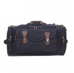 Rothco Canvas Long Weekend Bag - Black Front View