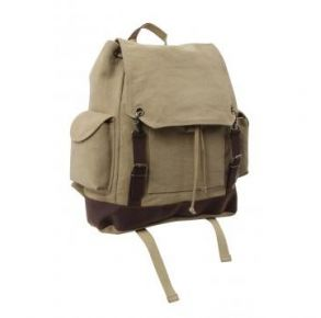 Rothco Vintage Expedition Rucksack - Khaki Front View