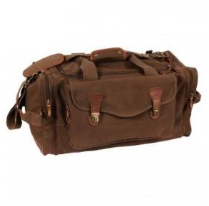Rothco Canvas Long Weekend Bag - Brown Right Slightly Angled View