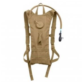 Rothco MOLLE 3 Liter Backstrap Hydration System - Coyote Brown Front View