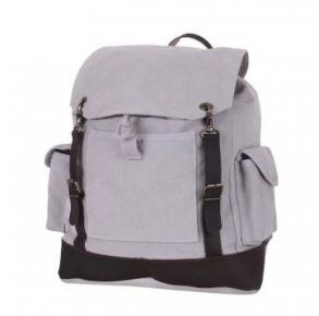 Rothco Vintage Expedition Rucksack - Gray Front View