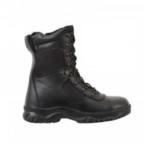 "Rothco Mens 8"" Forced Entry Tactical Boot With Side Zipper Right Side Angle View"