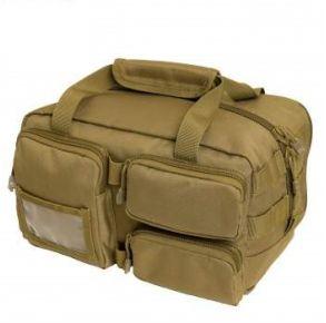 Rothco Tactical Tool Bag - Coyote Brown Left Side Angle View