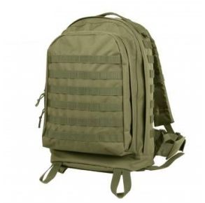 Rothco MOLLE II 3-Day Assault Pack - Olive Drab Front View