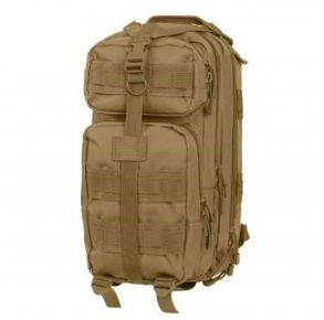 Rothco Convertible Medium Transport Pack - Coyote Brown Left Side Angle View
