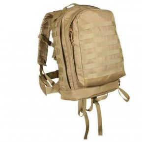 Rothco MOLLE II 3-Day Assault Pack - Coyote Brown Front View
