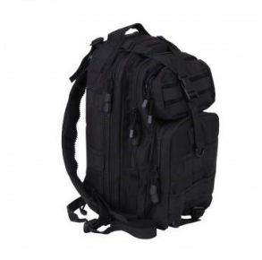 Rothco Convertible Medium Transport Pack - Black Right Side Angle View