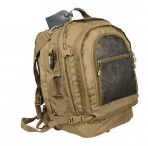 Rothco Move Out Tactical Travel Backpack - Coyote Brown Right Angle View