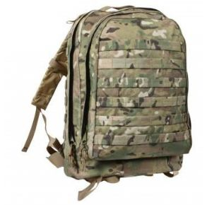 Rothco MOLLE II 3-Day Assault Pack - MultiCam Front View