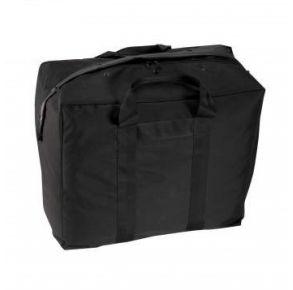 Rothco Enhanced Aviator Kit Bag - Black Right Side Slight Angle View