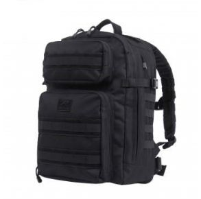 Rothco Fast Mover Tactical Backpack - Black Left Side Angle View