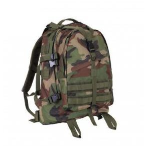 Rothco Large Camo Transport Pack - Woodland Camo Right Slight Side Angle View