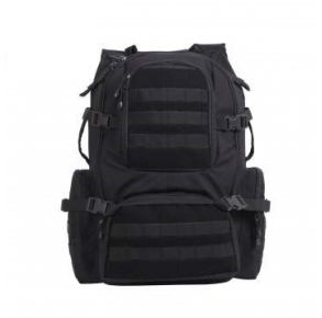 Rothco Multi-Chamber MOLLE Assault Pack - Black Front View