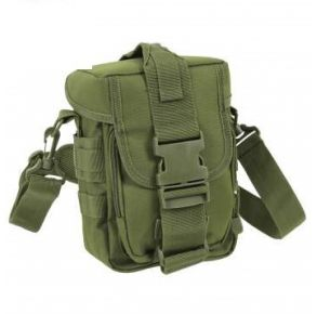 Rothco Flexipack MOLLE Tactical Shoulder Bag - Olive Drab Left Side Slated Angle View