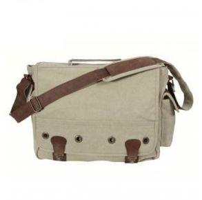 Rothco Canvas Trailblazer Laptop Bag - Khaki Front View