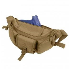 Rothco Tactical Concealed Carry Waist Pack - Coyote Brown Left Side Angle View