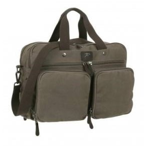 Rothco Canvas Briefcase Backpack Front Closed View