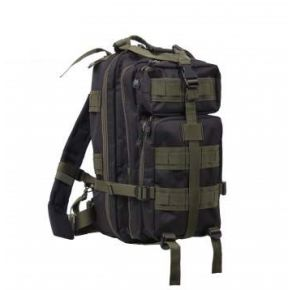 Rothco Medium Transport Pack - Black/Olive Drab Front View