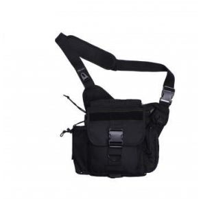 Rothco XL Advanced Tactical Shoulder Bag - Black Front View