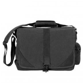 Rothco Vintage Canvas Urban Pioneer Laptop with Leather Accents - Black Front View