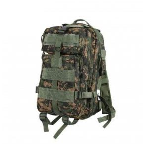 Rothco Camo Medium Transport Pack - Woodland Digital Camo Left Side Angle View