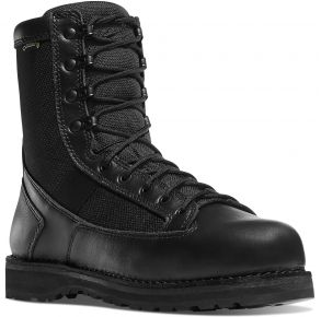 "Danner Mens 8"" Stalwart Black Boot Front View"