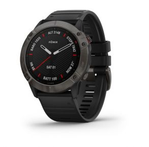 Garmin fēnix 6X Sapphire Edition Smartwatch - Carbon Gray Front View