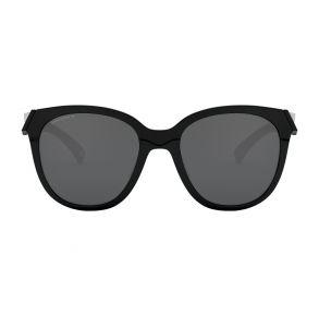 Oakley Womens Low Key Polished Black Frame - Prizm Black Lens - Polarized Sunglasses Front View