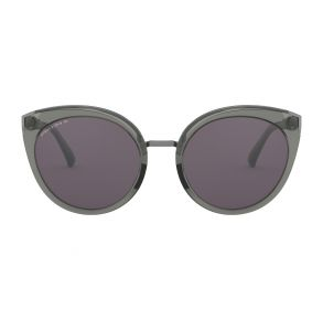 Oakley Womens Top Knot Onyx Frame - Gray Prizm Lens - Polarized Sunglasses Front View