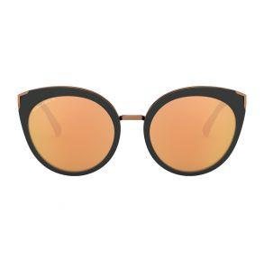 Oakley Womens Top Knot Velvet Black Frame - Rose Gold Prizm Lens - Polarized Sunglasses Front View