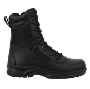 "Rothco Mens 8"" Forced Entry Tactical Boot With Side Zipper & Composite Toe Right Side Angle View"