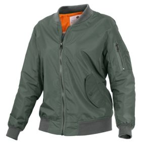 Rothco Womens Lightweight MA-1 Flight Jacket Left Side Angle View