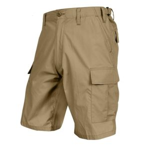 Rothco Mens Lightweight Tactical BDU Shorts - Khaki - Size 3XL Front View