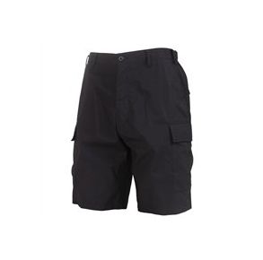 Rothco Mens Lightweight Tactical BDU Shorts - Black - Size 3XL Front View