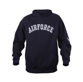 Rothco Mens Air Force Military Embroidered Pullover Hoodie Sweatshirt - Size S - XL Front View