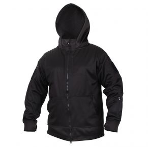 Rothco Mens Tactical Zip Up Hoodie - Black - Size 3XL Front View