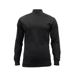 Rothco Mens Mock Turtleneck Long Sleeve Shirt - Black  - Size 3XL Front View
