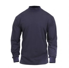 Rothco Mens Mock Turtleneck Long Sleeve Shirt - Midnight Navy - Size 2XL Front View