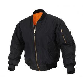 Rothco Mens Enhanced Nylon MA-1 Flight Jacket - Size 3XL Front View