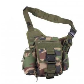 Rothco Advanced Tactical Bag - Woodland Camo Front View