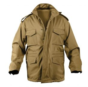 Rothco Mens Soft Shell Tactical M-65 Field Jacket - Size XS - XL Front View