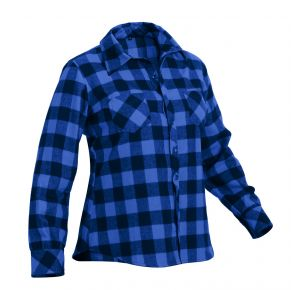 Rothco Womens Plaid Flannel Long Sleeve Shirt - Size 2XL Right Side Angle View