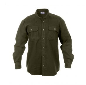Rothco Mens Heavy Weight Solid Flannel Shirt - Size S - XL Front View