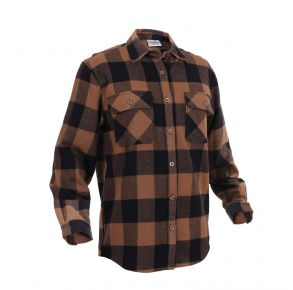 Rothco Mens Extra Heavyweight Buffalo Flannel Shirt - Size S - XL Right Side Angle View
