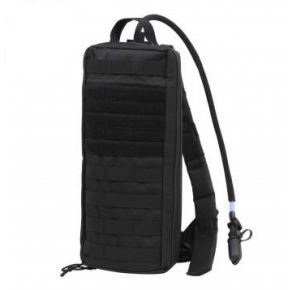 Rothco MOLLE Attachable Hydration Pack - Black Left Side Slightly Angled View