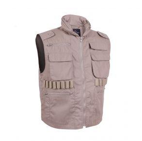 Rothco Mens Ranger Vests - Khaki - Size 2XL Front View