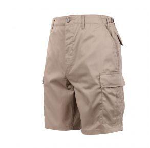 Rothco Mens Tactical BDU Shorts - Khaki - Size 3XL Front View