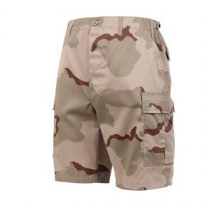 Rothco Mens Camo BDU Shorts - Size XS - XL Front View