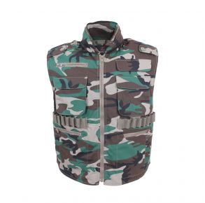 Rothco Mens Ranger Vests - Woodland Camo - Size 2XL Front View