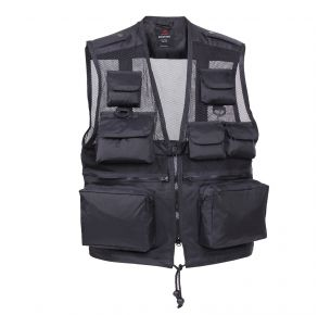 Rothco Mens Tactical Recon Vest - Black - Size 2XL Front View